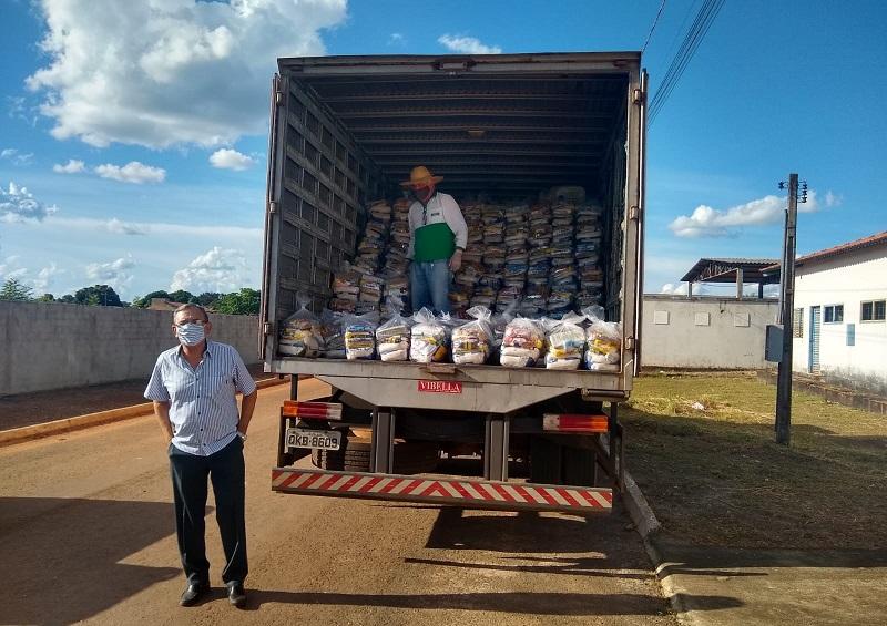 Cerca de 300 cestas básicas são distribuídas em Pium durante pandemia do novo coronavírus