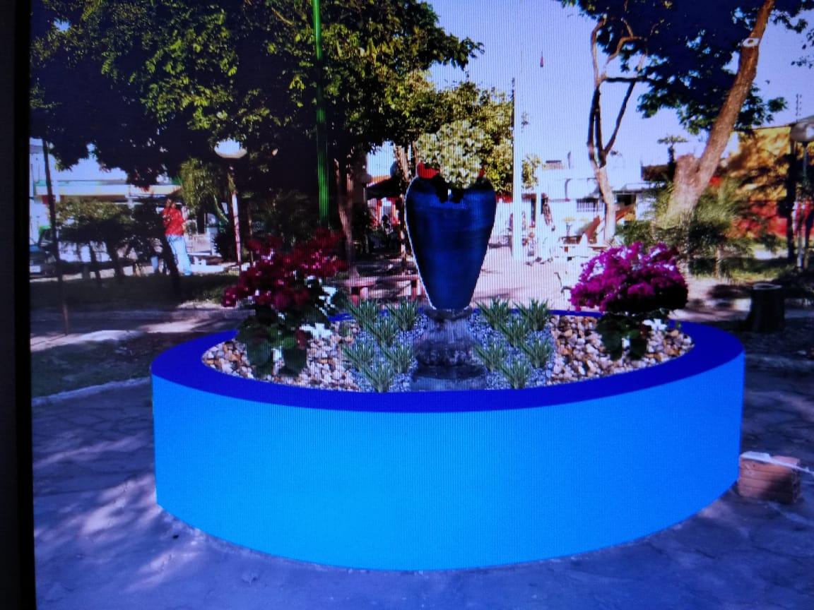 Praça Cabo Luzimar no centro de Paraíso recebe nova iluminação e outras benfeitorias