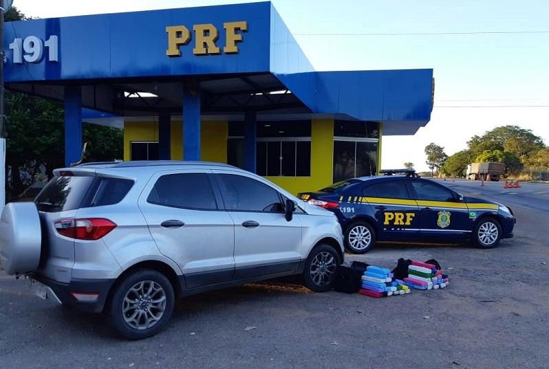 PRF prende dois homens transportando 41kg de maconha dentro de malas na BR-153