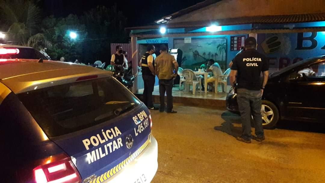 PM realiza operação conjunta com órgãos municipais e Polícia Civil na prevenção ao Covid-19, em Paraíso
