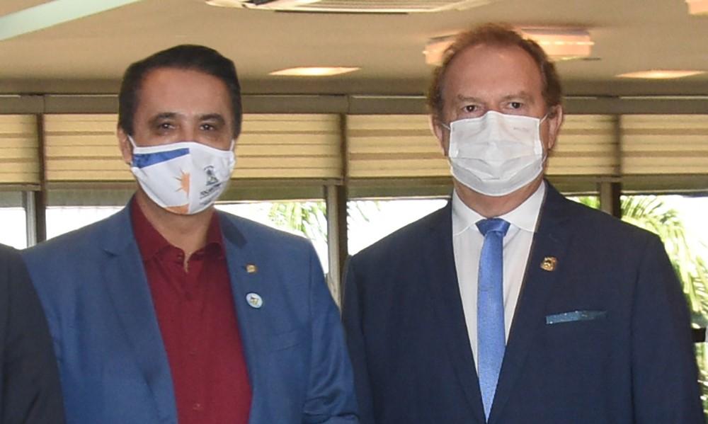 Governador Carlesse agradece deputado Carlos Gaguim por indicação para repasse de R$ 10 milhões para o Fundo Estadual de Saúde