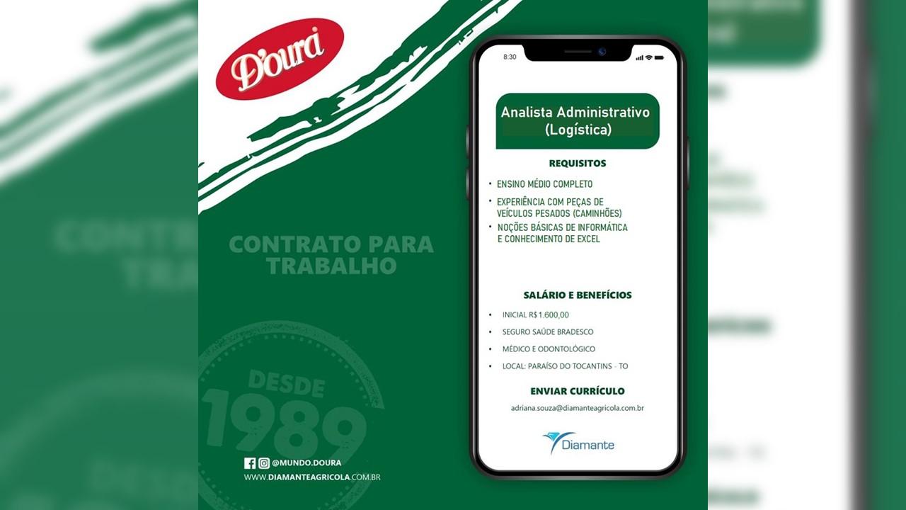 Empresa de Paraíso contrata Analista Administrativo com experiência em veículos pesados
