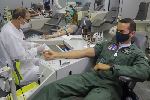 Força Aérea Brasileira incentiva doação de sangue