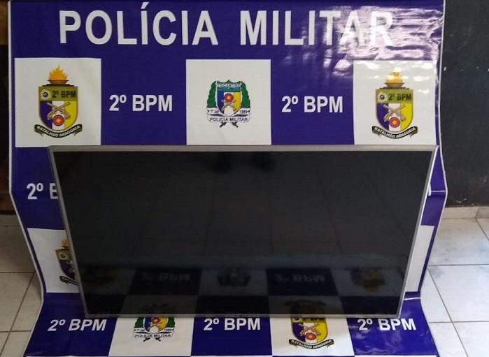 Polícia Militar recupera televisão furtada em Araguaína