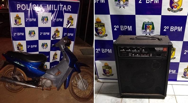 PM recupera moto ao atender perturbação de sossego em Araguaína