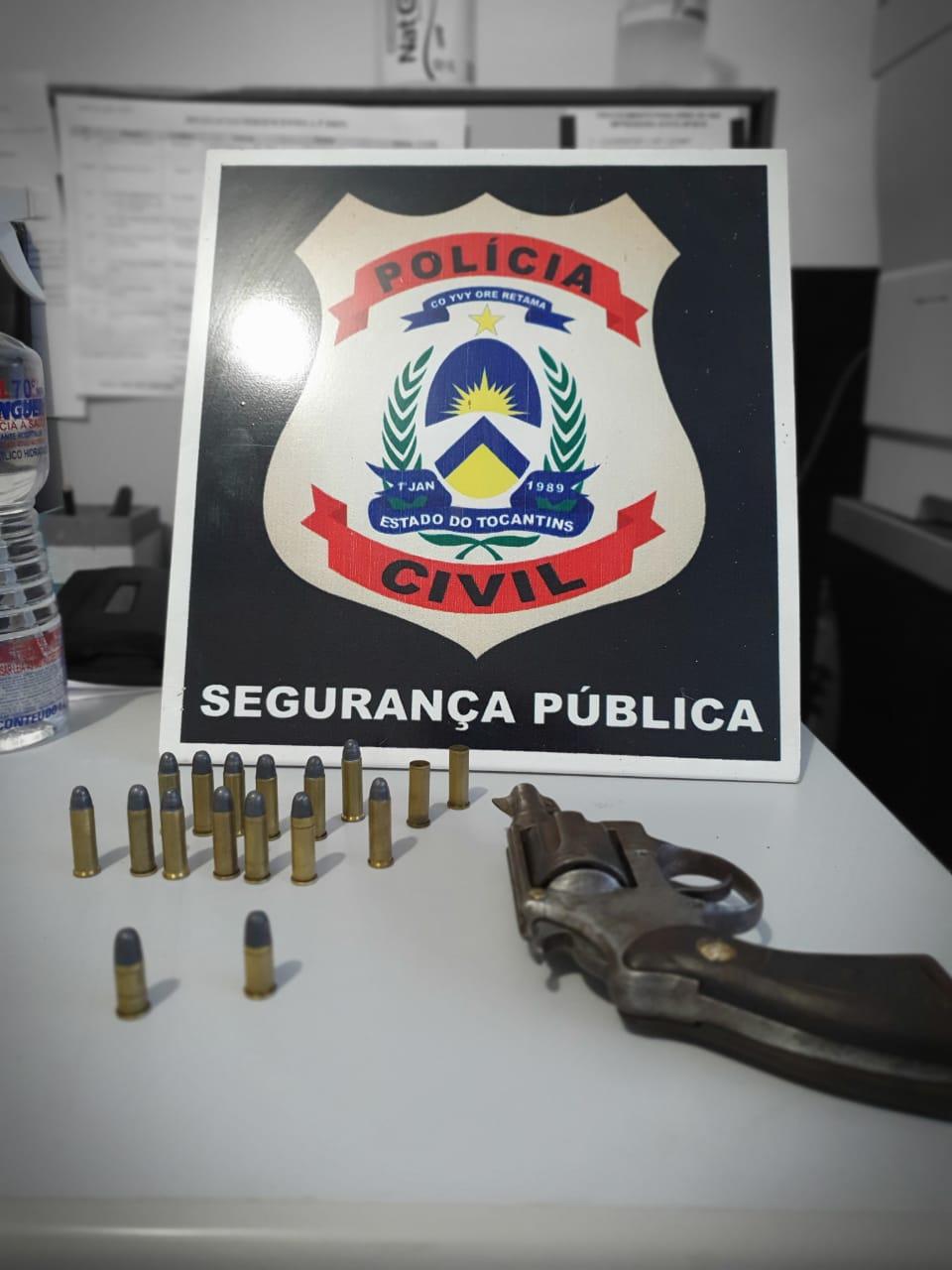 Homem é autuado pela Polícia Civil por porte ilegal de arma de fogo e violência doméstica em Miracema