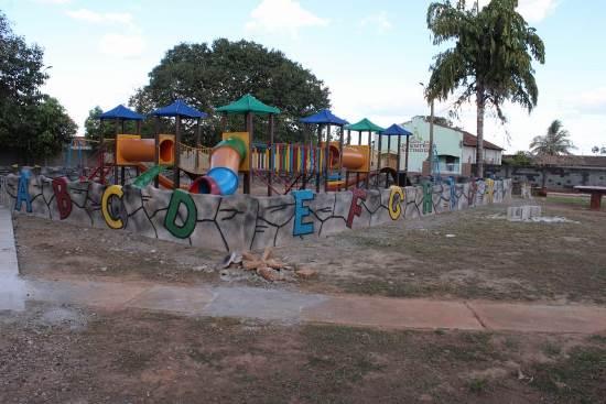 Reforma da Praça Luiz Pereira de Moraes, em Cristalândia, está em fase final