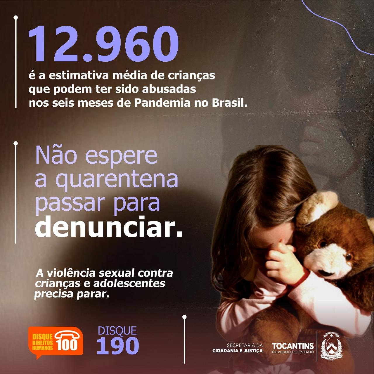 Denúncias de violência sexual contra crianças e adolescentes reduz drasticamente durante pandemia