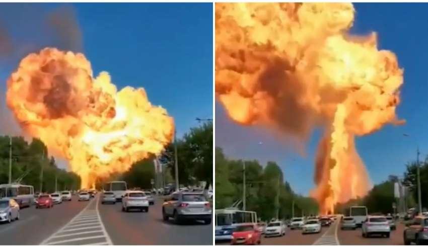 Explosão em posto de combustível na Rússia causa feridos