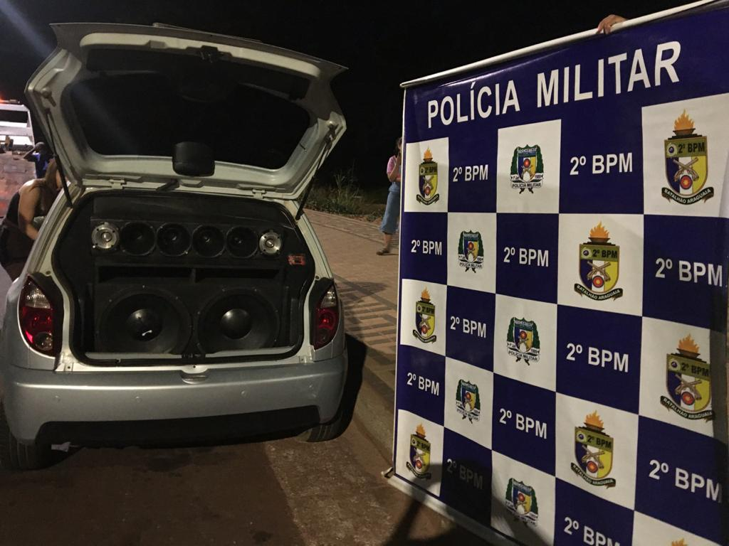 PM apreende treze aparelhagens de som durante uma semana em Araguaína