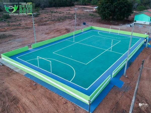 Prefeitura de Rio dos Bois conclui quadra de esportes e reforma de posto de saúde no assentamento Paulo Freire II