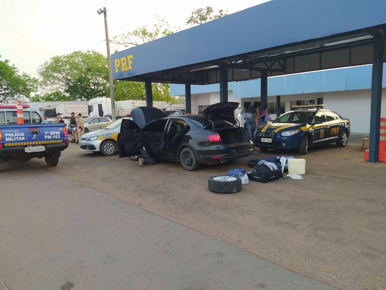 Ação conjunta da PRF e PM resulta na prisão de 3 suspeitos de furto