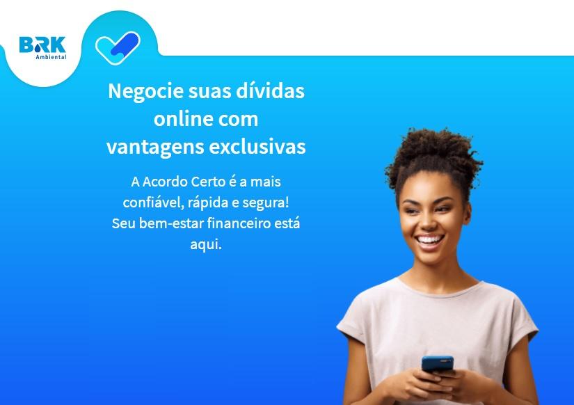 BRK Ambiental promove feirão online para moradores de Paraíso negociarem dívidas