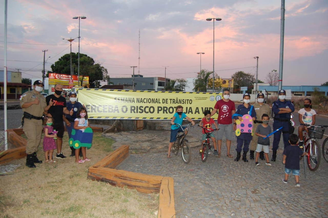 Guarda Municipal de Lagoa da Confusão e 4ª CIPM promovem atividades educativas na Semana Nacional do Trânsito
