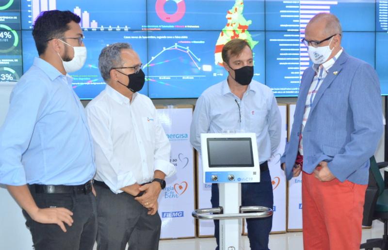Secretaria de Saúde recebe ventiladores pulmonares para auxiliar no tratamento da Covid-19 no Estado