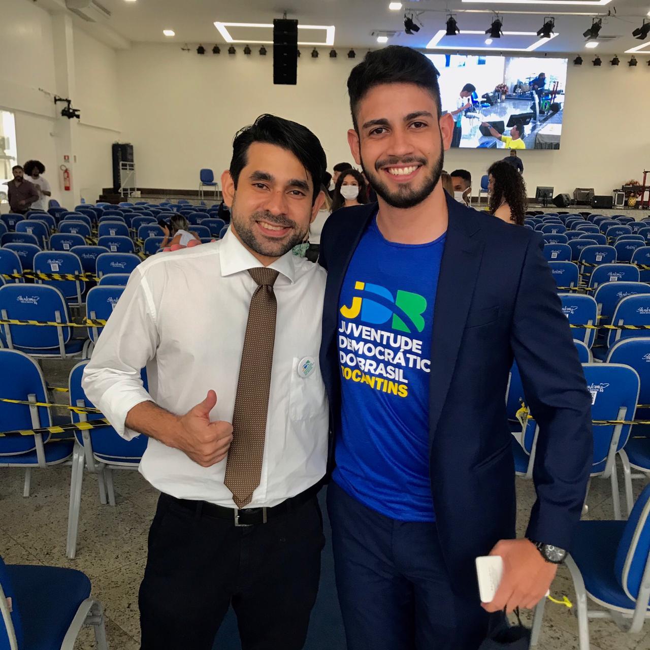 Liderança tocantinense participa de evento nacional da Juventude Democrática do Brasil em Brasília