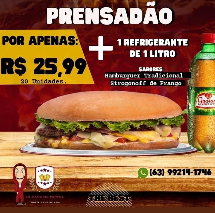 La Casa de Pastel anuncia promoção limitada de prensadão + refrigerante por R$ 25,99