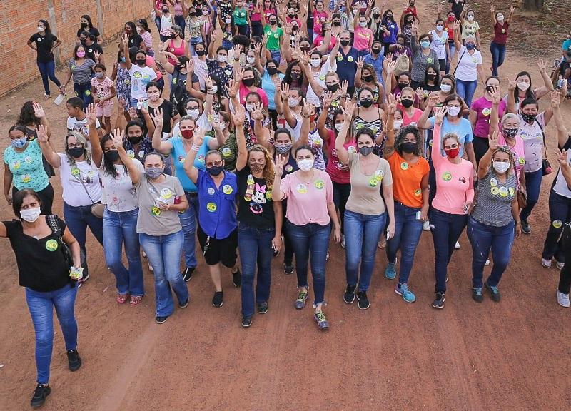 Campanha de Gutierres ganhou às ruas de Gurupi com caminhadas simultâneas