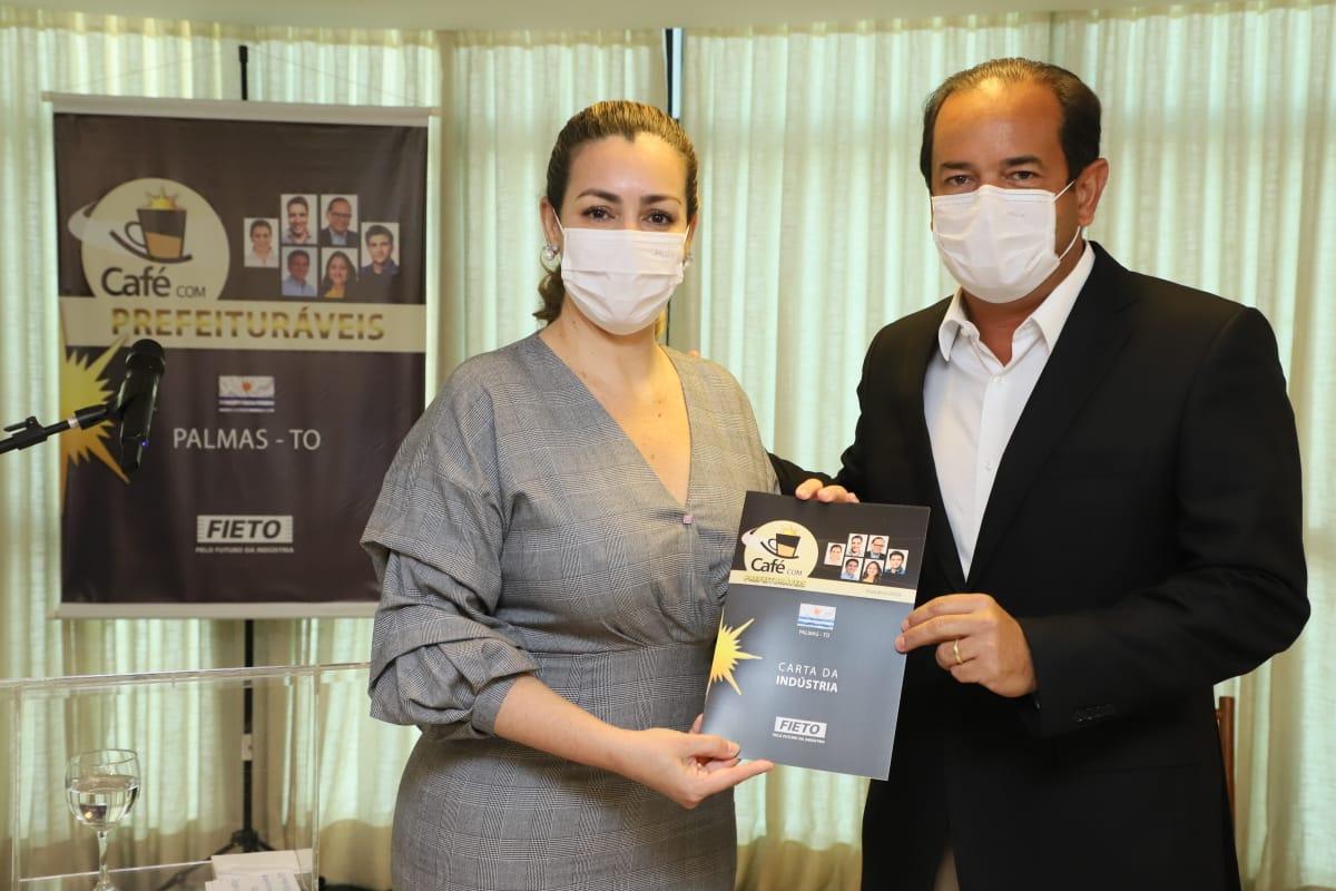 'Café com Prefeituráveis' da FIETO recebe a candidata Cinthia Ribeiro