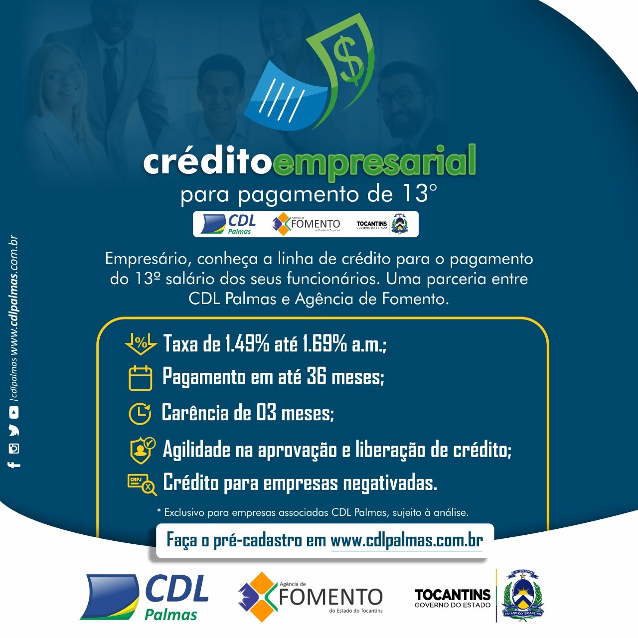 Comércio de Palmas recebe linha de crédito para auxiliar no pagamento do 13º