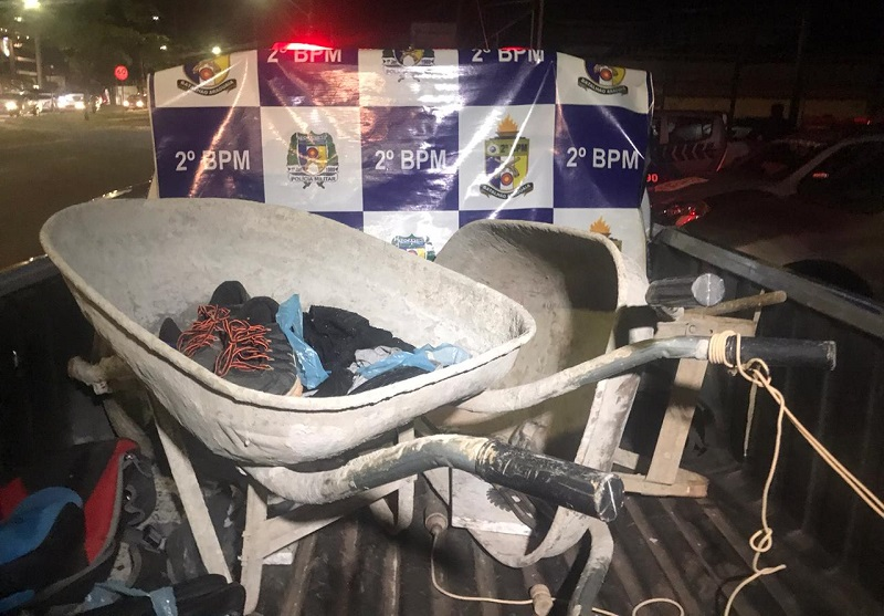 PM prende três pessoas suspeitas de furto em Araguaína