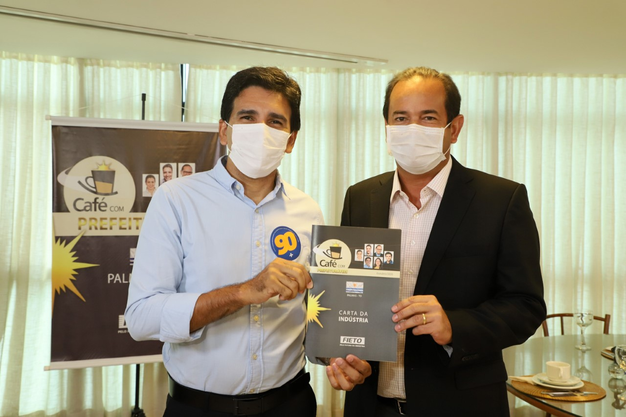Eleições 2020: Candidato Junior Geo recebe Carta da Industria e expõe propostas no Café com Prefeituráveis