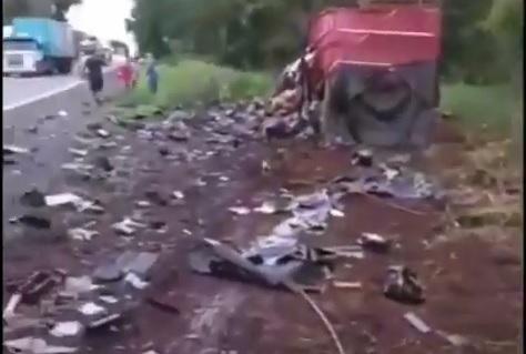 Vítimas do grave acidente na BR-153, em Rio dos Bois, são identificadas pela Polícia Civil