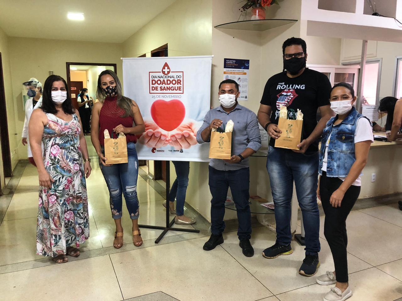 Coren/TO e Hemorrede homenageiam doadores de sangue