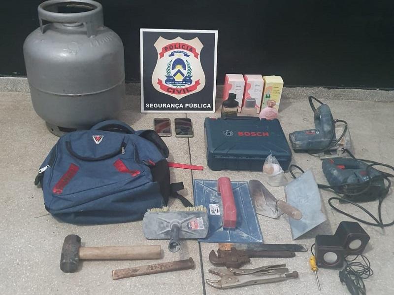 Polícia Civil recupera vários objetos furtados de residências em Miracema