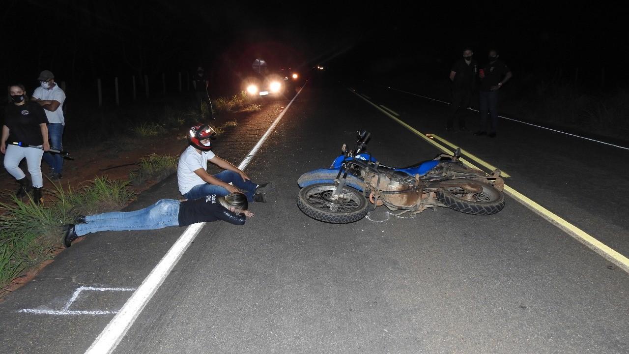 Perícia Criminal do Tocantins faz reprodução simulada e elucida acidente fatal de trânsito em Palmas