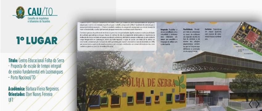 Acadêmicas da UFT vencem '2º Prêmio para Estudantes de Arquitetura e Urbanismo do Tocantins'