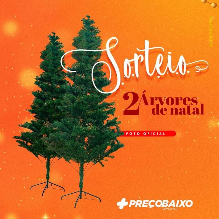 Farmácia Preço Baixo de Paraíso está sorteando árvores de natal no Instagram; Veja como participar