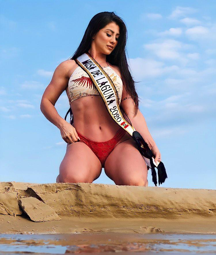 Franciella Pires disputa o Musa de Santa Catarina pela cidade de Laguna