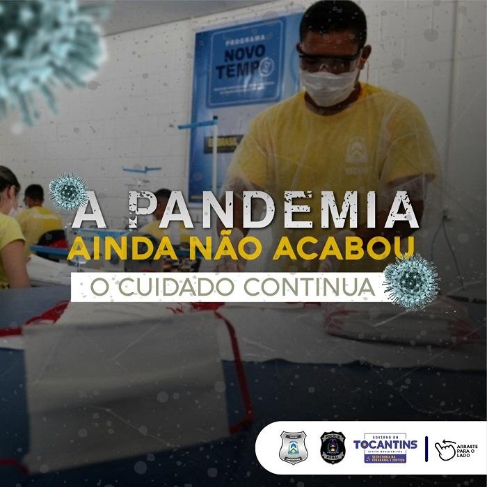 Sistema Penal do Tocantins lança campanha com Dia D de Combate à Covid-19