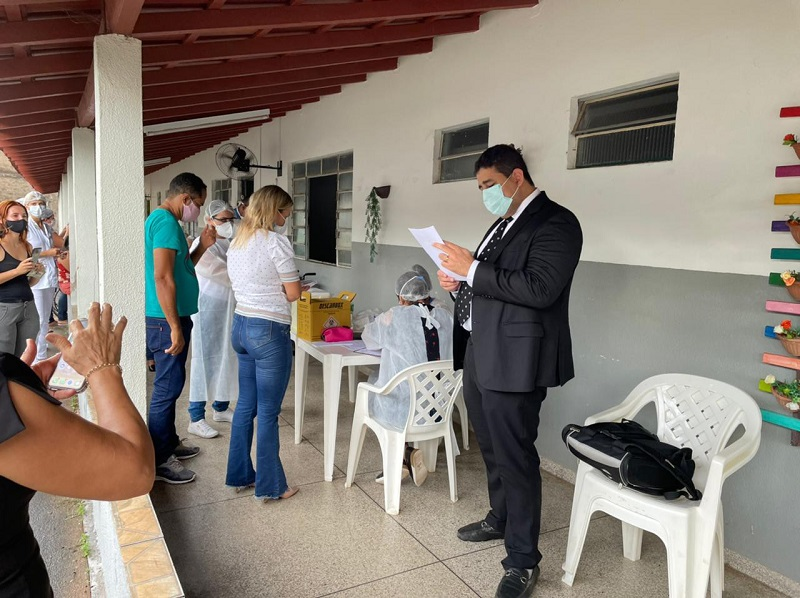 MPTO acompanha vacinação de idosos em instituição de longa permanência de Araguaína