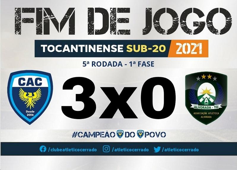 Atlético Cerrado vence Alvorada por 3 a 0 na 5ª rodada do Estadual Sub-20