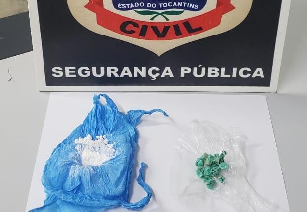Polícia Civil prende homem e apreende menor por tráfico de drogas em Paraíso