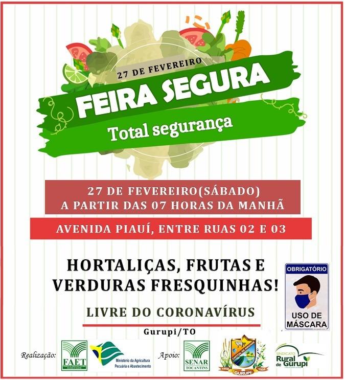 Feira Segura será realizada neste sábado em Gurupi com apoio da Prefeitura