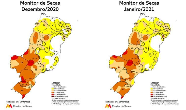 Monitor de Secas indica seca grave em quase metade de Tocantins em janeiro