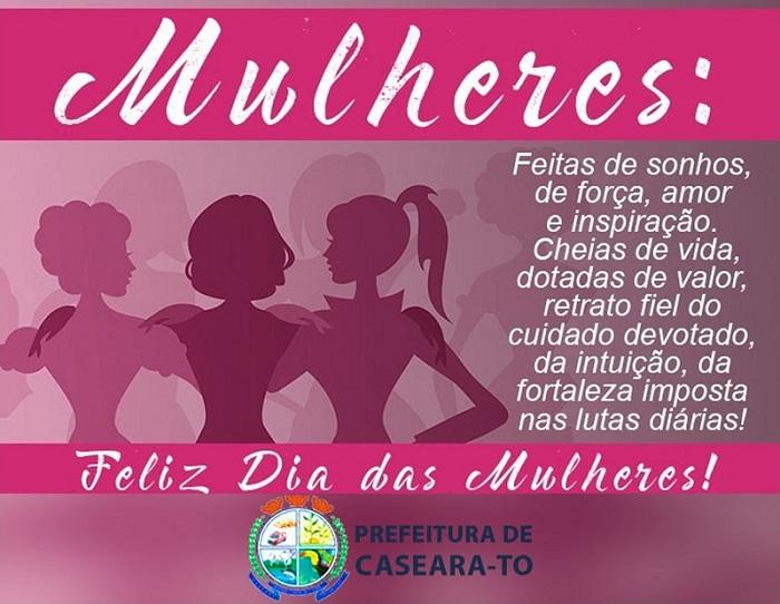 Prefeita de Caseara, Ildislene Santana deseja a todas um Feliz Dia da Mulher