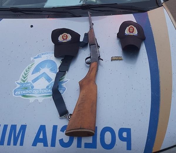 PM prende homem por porte ilegal de arma de fogo em Campos Lindos