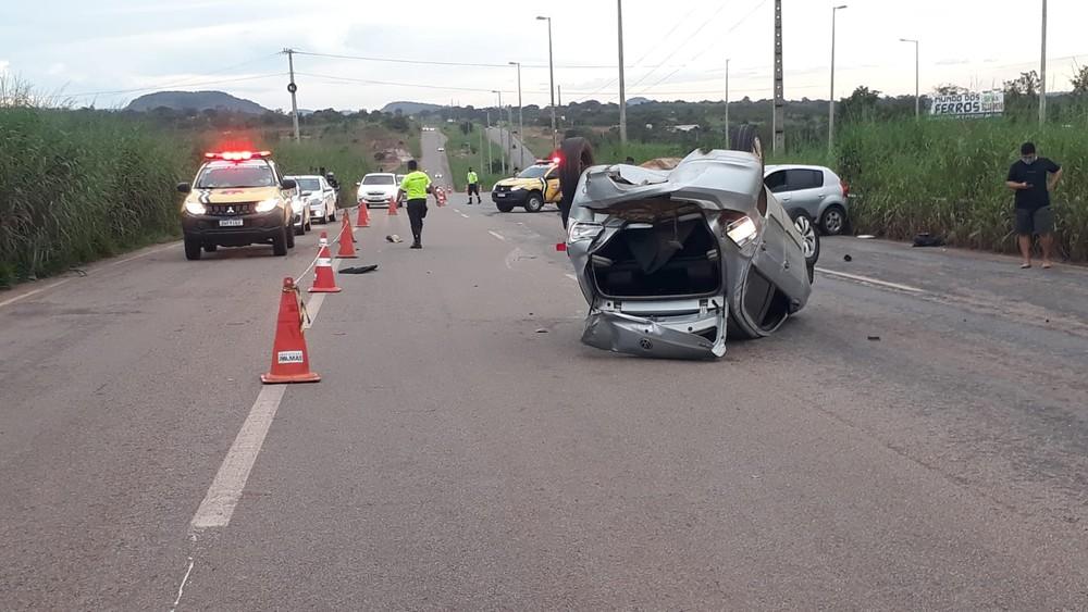 Motorista com sinais de embriaguez causa acidente na TO-050 em Palmas
