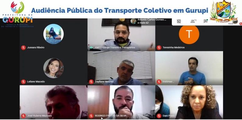Transporte coletivo em Gurupi foi debatido durante audiência pública online