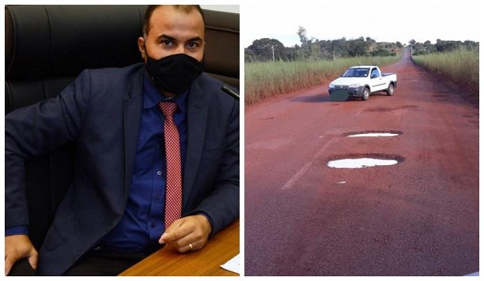 Vereador Filipe Martins envia ofício ao Governador solicitando recapeamento de rodovias