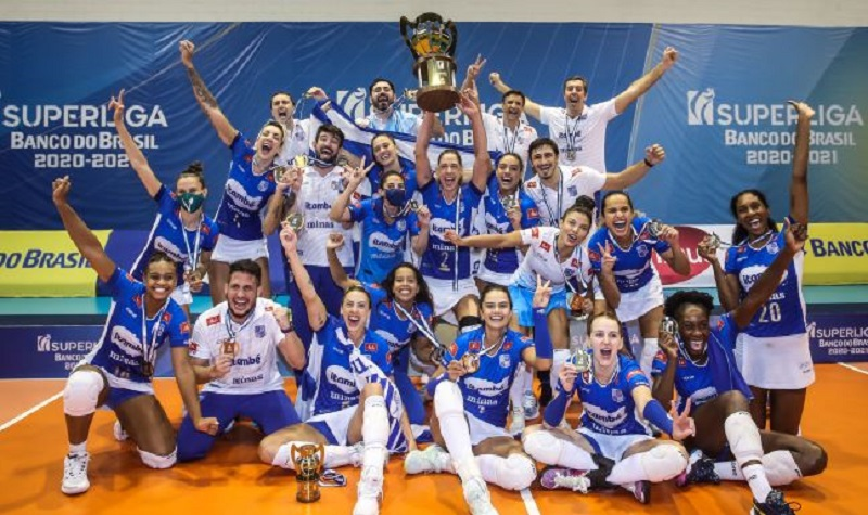 Minas vira para cima do Praia e é campeão da Superliga Feminina de Vôlei