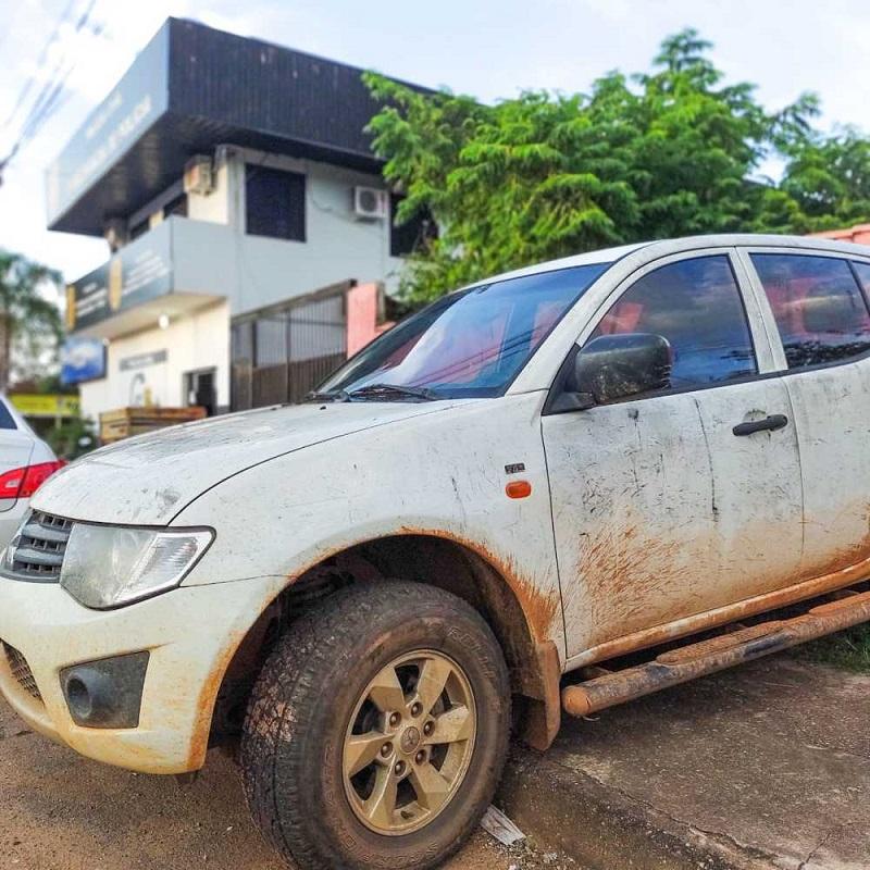 PM recupera caminhonete roubada de secretaria do Estado na região sul de Palmas