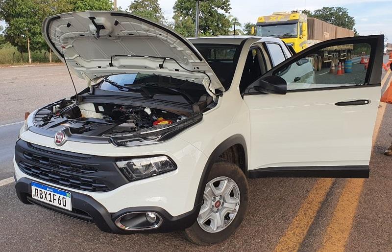 Veículo roubado é recuperado em ação conjunta da Polícia Civil do Tocantins e da PRF