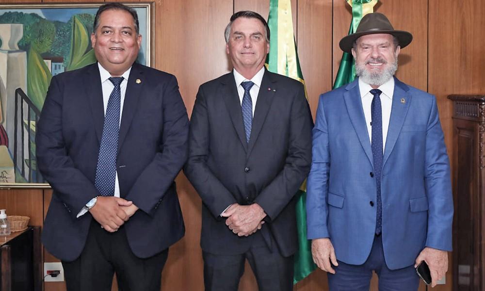 Em audiência com o Presidente Bolsonaro, governador Carlesse solicita apoio para liberação de recursos