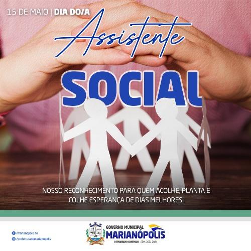 Prefeitura de Marianópolis publica nota em homenagem aos assistentes sociais