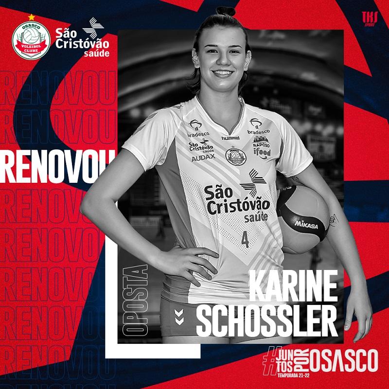 Osasco São Cristóvão Saúde renova com Camila Paracatu e Karine